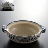 n1402-120-1 23.0×19.5×6.3青唐草土鍋