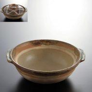 n1403-150-1 21.8×20.3×6.7伊賀白線土鍋