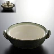 n1404-120-1 22.5×19.3×6.7緑一松土鍋