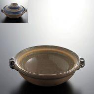 n1405-120-1 20.4×17.9×5.9青横筋土鍋