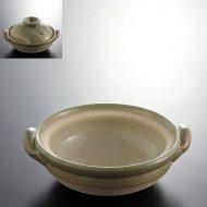 n1406y-120-1 23.0×20.0×7.0ビードロ土鍋