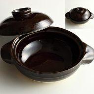 n1411-60-1 22.0×17.3×5.6茶小土鍋