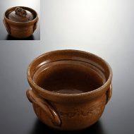 n1417-120-1 19.5×18.5×12.2あめ釉炊飯土鍋(2合)