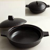 n1420-100-1 24.0×19.5×4.8茶浅小土鍋