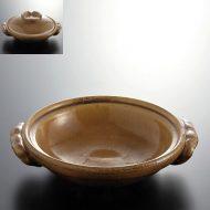 n1426-150-1 22.8×19.9×5.3飴色浅小土鍋
