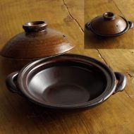 n1436-75-1 20.5×16.7×4.0茶土鍋小