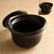n1437-150-1 19.4×18.5×12.4伊賀焼茶ご飯土鍋 10.5合炊き