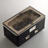 n2007-350-1 36.3x20.8x18.0火王 長角外黒鉄張コンロ