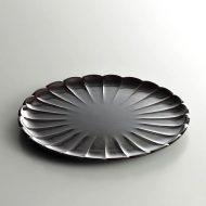 s1511-55-1 φ18.8溜塗菊皿
