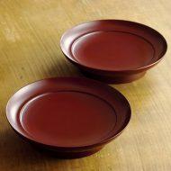 s1559-50-2 φ15.0x3.6古朱高台銘々皿