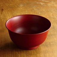 s1580-180-1 φ16.7x8.6越前塗朱刷毛目丼鉢(山岸厚夫)