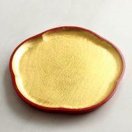 s1645 木製金箔梅盛り皿