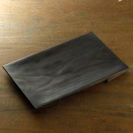 s1667-300-1 32.0x21.0x2.0黒ぬり木目長角もり皿