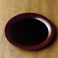 s1678-200-1 φ18.0黒縁木目塗り皿(林 源太)