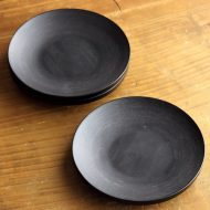 s1685-55-3 φ12.0ブナコ 黒木目銘々皿(茶たく)
