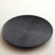 s1736 渦巻き黒メープルプレート(北山栄太)
