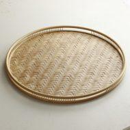 s2015-400-1 φ25.0x2.2竹製網代丸盆