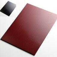 s2048-90-1 39.5x29.0朱ストライプランチョン、裏黒