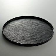 s2055-80-1 φ38.0黒筋目丸盆