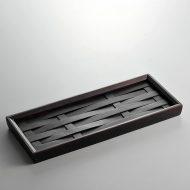 s2076-50-1 29.5x12.0濃茶竹トレー