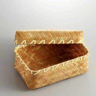 s2540-40-1 16.5x11.5x6.2竹薄茶網代弁当箱