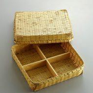 s2544-150-1 28.0x28.0x6.8竹かご弁当箱
