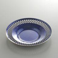 s3023-60-2 φ11.5x1.5七宝瑠璃色茶たく