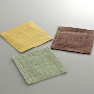s3053-15-2 10.0x10.0麻単色和コースター からし色 茶 草色