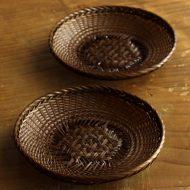 s3075-55-2 φ12.0竹編茶塗り茶たく