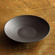s3076-45-1 φ12.0x2.3陶器黒筋目茶たく