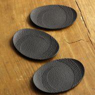 s3084-20-3 11.3x6.3黒鉄楕円茶たく