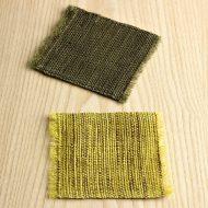 s3086-20-1 12.0x10.5麻ふさつきコースター 茶、緑