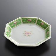 t1066y-10-2 φ10.5八角はす/緑皿