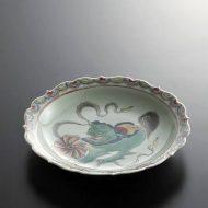 t2007-90-1 φ21.3x3.7景徳鎮獅子皿