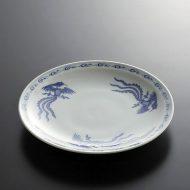 t2014-25-1 φ21.8染付鳳凰中皿