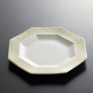 t2023-90-1 φ24.0金縁八角皿