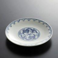 t2026-30-1 φ18.8染付中龍中皿