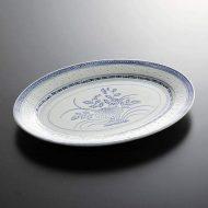t2050-30-1 30.4x22.2ホタル楕円大皿