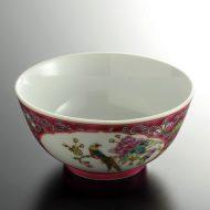 t3004y-15-2 φ11.3x5.7景徳鎮赤鳥と花鉢