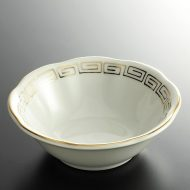 t3031-15-2 φ11.7x4.0金雷紋花形スープ