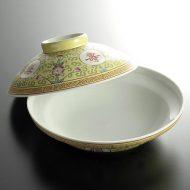 t3033-80-1 φ20.5x9.4黄ふたつき浅鉢
