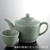 t4003-85-14 φ7.5x5.7他高麗青磁茶器セット
