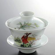 t4011-100-1 φ9.2x8.0中国ガイワンびわ奏者茶器