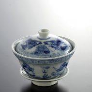 t4040-40-1 φ9.8x8.3骨董染付茶碗
