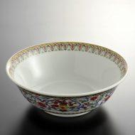 t5010-45-1サイズ:φ18.4x6.3花色唐草ラーメン鉢