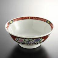 t5015-25-1サイズ:φ19.0x7.5赤帯ぼたんラーメン鉢