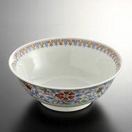 t5040-25-1サイズ:φ20.0x7.7白地花唐草ラーメン鉢