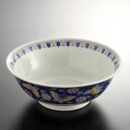 t5043-25-1サイズ:φ20.7x7.8青巻蝶ラーメン鉢
