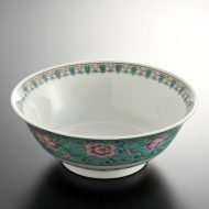 t5044-25-1サイズ:φ20.7x7.8水色巻ボタンラーメン鉢