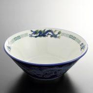 t5055-25-1サイズ:φ19.6x6.8ルリ白龍ラーメン鉢